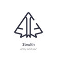 stealth outline icon isolated line from army vector image vector image