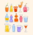 summer juice and lemonade water with fresh berry vector image