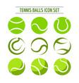 tennis balls icon set vector image