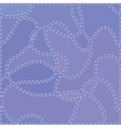 The Seams on Blue Fabric vector image vector image