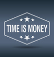 time is money hexagonal white vintage retro style vector image vector image