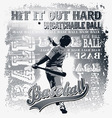 uncatchable ball vector image vector image
