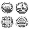 vintage monochrome chess emblems set vector image vector image