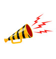 vintage yellow megaphone with black lines vector image