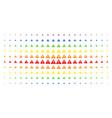 warning spectral halftone pattern vector image vector image