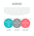 website banner and landing page aviation