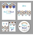 Wedding cards with tribal ornaments vector image