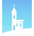 winter poster with church vector image vector image