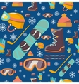 Winter sports seamless pattern icons vector image vector image
