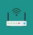 wireless technology devices isometric router and vector image