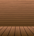 Wooden design vector image