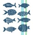 Cartoon fishes set vector image