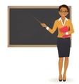 The teacher at blackboard vector image