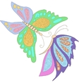 Two blue pink butterfly isolated on white vector image