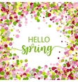 Hello Spring lettering design vector image