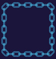 abstract chain frame vector image vector image