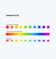 abstract design of rainbow colours palette vector image