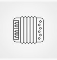 accordion icon sign symbol vector image