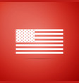 american flag icon on red background flag of usa vector image