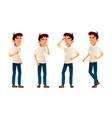 asian boy poses set high school child vector image vector image