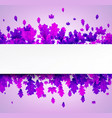 autumn background with beautiful purple leaves vector image vector image