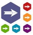 big arrow icons set vector image vector image