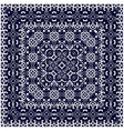 Blue scarf with white pattern vector image vector image