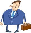 businessman with briefcase cartoon vector image