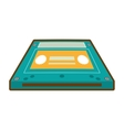 cartoon cassette tape music audio music vector image vector image
