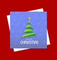 chrismtmas card with pattern background and tree vector image vector image