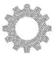 cogwheel composition of chain icons vector image vector image