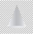 cone isolated on transparent background cone vector image vector image
