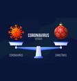 coronavirus or christmas creative concept of vector image
