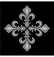 croix fleurdelise vector image vector image