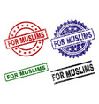 damaged textured for muslims stamp seals vector image