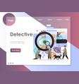detective website landing page design vector image