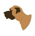 Dog head english mastiff vector image vector image