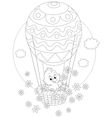 Easter Chick flying in a balloon vector image