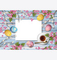 easter holiday background vector image vector image