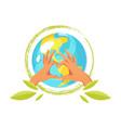 ecology concept logo vector image vector image