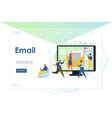 email website landing page design template vector image