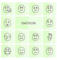 emoticon icons vector image vector image