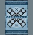 engine gasket poster car service station vector image vector image