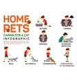 flat infographic caring vector image vector image