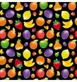fruit on black background