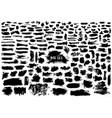giant set of black brush strokes vector image