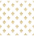 Golden fleur-de-lis seamless pattern white 4 vector image vector image