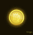 golden virgo sign vector image vector image