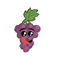 grapes expressions hungry face vector image