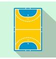 Handball field flat icon vector image